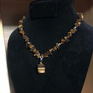 Brown Tigers eye necklace 🌸🌟🌸